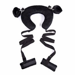 Discount bondage pads - Adult Sex Position Master Leg Spreader Straps with Padded Neck Harness Erotic Bondage Kinky Sex Pillow Toy for Couples