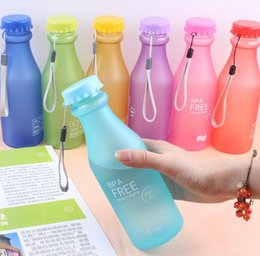 $enCountryForm.capitalKeyWord NZ - Frosted high quality plastic portable drop does not break the vial seal water cup 550ml kettle Colors are shipped randomly