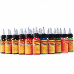 China New 30ml bottle tattoo ink set Microblading permanent makeup art pigment 16PCS cosmetic tattoo paint for eyebrow eyeliner lip body cheap wholesale pigments cosmetics suppliers