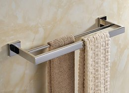 Free Shipping SUS 304 Stainless Steel Mirror Surface Finish Double Towel  Bar,Towel Holder Towel Ring Bathroom Hardware Accessories SM008 1