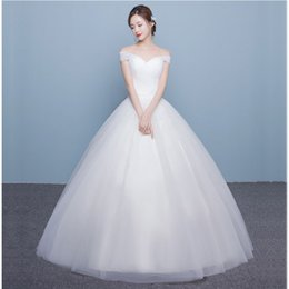 $enCountryForm.capitalKeyWord UK - Sexy Wedding Dresses Off the Shoulder Cap Sleeve with Tulle Floor Length Bridal Gowns Lace Up Amelia Sposa Court Train with Bow