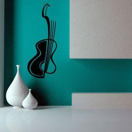 $enCountryForm.capitalKeyWord NZ - Hollow Out Guitar Music Wall Paper Living Room Art Vinyl Wall Decal Sticker Home Decor Stickers Vinyl Wall Art Mural
