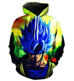 Blue hair long anime online shopping - Newest Fashion Womens Mens Anime Cartoon Blue Hair Pocket Harajuku Style Funny D Print Casual Hoodies with Hat Hoody Unisex Plus Size KK20