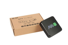 Hdmi Set Top Box UK - A96S Android TV Box Amlogic S905X Quad Core Android 6.0 Marshmallow 2GB+8GB HDMI 2.0 2.4G WIFI 4K Miracast Set Top Box