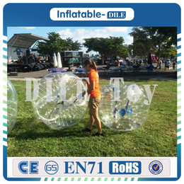 inflatable adult balls Australia - 0.8mm 1.5m PVC Inflatable Bubble Football Soccer Zorb Ball For Adult, Inflatable Human Hamster Ball Bumper Ball Outdoor Fun & Sports