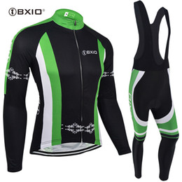 BXIO Pro Team Simple Style Cycling Jerseys Long Sleeve Sets Winter Thermal Fleece  Bike Clothes Autumn Black Bibs Ropa Ciclismo BX-106 6823b5605