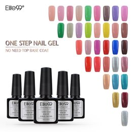 Base Un Gel Uv Pas Cher-Wholesale-Elite99 Soak Off Nail Polish One Step Peel off Vernis UV à longue durée de vie Pas de base Top 60 Couleurs Gel Vernis à ongles 10ml