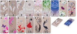 Papillon Fille Sexy Pas Cher-Fleur Papillon Feather Housse en TPU souple pour Iphone 7 / Plus / 6 6S / SE 5 5S / Touch 6G 5G Dreamcatcher Henné Paisley Mandala Sexy Girl Gel Cover
