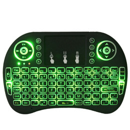 rii mini i8 2.4ghz wireless keyboard UK - RII I8 Air Mouse Li-ion Battery 2.4GHZ Wireless Keyboard Touchpad Remote Control For TV BOX Game Play Tablet Mini PC in Retail Package