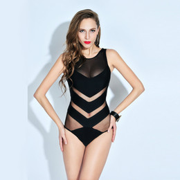 $enCountryForm.capitalKeyWord Australia - 2017 Europe New Sexy One Piece Swimsuit Plus Size Swimwear Women Bandage Monokini Swimsuit Bathing Suit Swim Wear Black Bodysuit