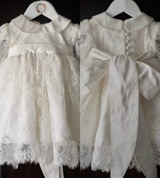 Robes Blanches Fines Pas Cher-Véritable Image Pure White Cute First Communion Robes Bow Sash Dentelle Applique Jewel Neck A Line Pageant Gowns