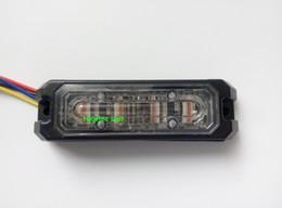 Blue amBer grill online shopping - ECE R65 W led car grill warning lights strobe emergency light headlights flash waterproof