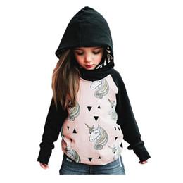 $enCountryForm.capitalKeyWord Canada - cute girl sweatshirt jacket cartoon unicorn horse hooded coat for 1-4yrs girls kids children sport outerwear hoodie clothes hot