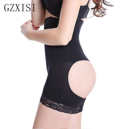 China Wholesale- slimming underwear butt lifter hot body shapers tummy and butt shaper weight loss body wrap Sexy Ladies butt lifting leggings cheap sexy butt lifter shapers suppliers