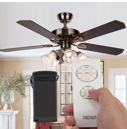 Energy saving ceiling fans suppliers best energy saving ceiling wholesale universal wireless ceiling fan lamp remote controller kit timing for ceiling fan incandescent mozeypictures Images