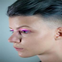 $enCountryForm.capitalKeyWord Australia - F.Lashes Interactive LED Eyelashes Fashion Glowing Eyelashes Waterproof for Dance Concert Christmas Halloween Nightclub Party