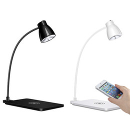 Lamps for charging phones online shopping - LED Desk Lamp with Phone Wireless Charger Table Lamp Degree Rotating Lamp Support Wireless Charging for iPhone X for Samsung