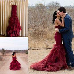 Gothic Burgundy Black Wedding Gowns Online Shopping | Gothic ...