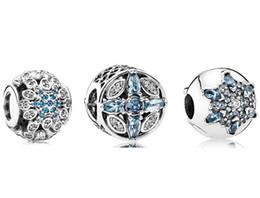 $enCountryForm.capitalKeyWord NZ - DIY Jewelry Sets 925 Sterling Silver Loose Charm & Murano Glass Lampwork Bead Fits European Pandora Bracelet & Necklaces- snowflake Sets