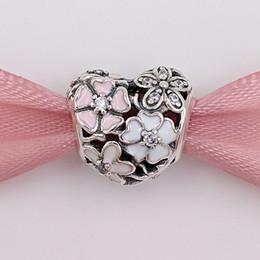 13c6a2998c02cc Autentico 925 Sterling Silver Beads Poetic Blooms Charm Adatto europeo  Pandora gioielli stile collana bracciali 791825ENMX