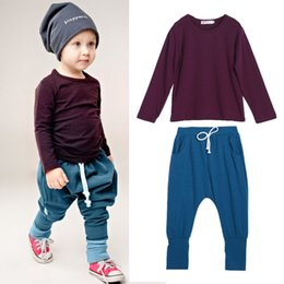 Tee-shirt De Combat Pour Enfants Pas Cher-2PCS Kids Baby Boys Cotton Outfit T-Shirt Tops + Pants Ensemble de vêtements