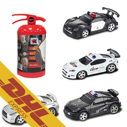 40pcs lot 158 mini fire pot rc racing car police cars led light music roadblock 4ch radio remote control vehicle toys for kids xmas gift