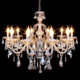Elegant Modern Ceiling Light Crystal Chandelier Pendant Lighting Fixture 10  Lamp