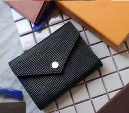 Venta al por mayor de Brand New Victorine Wallet Damier Azur Canvas Mujeres cuero real Victorine búho rosa señoras billetera titular de la tarjeta monedero rojo M41938