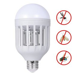 Wholesale Electronic Mosquito Killer Bug Zapper Light Bulb Fits in v W W Light Bulb Socket Perfect for Indoor Home Garden Patio Backyard Free