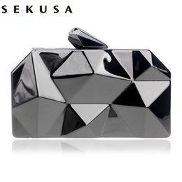 NEW HOT geometric shaped tin box case evening bags clutch purse handbags  clutch evening bags women purse bags 61c25a45b31e