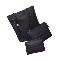 Chinese  Wholesale- Hot Sale New Brand 2017 Luxury Women Bag 3 Piece Set PU Leather Tassel Serpentine Python Women Tote Lady Handbag Bag Feb17 manufacturers