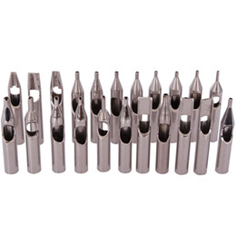 Wholesale High Quality Stainless Steel Tattoo Tips Kit Tattoo Nozzle Tips Mix Set For s Accessories