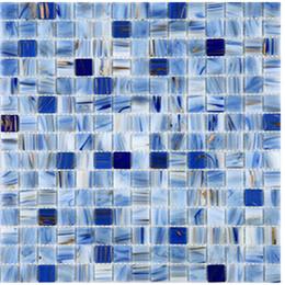 Golden Line Glass Mosaic Tiles, Blue Bathroom Tiles, High Quality Kitchen  Backsplash Mosaic,Elegant Decor Glass Wall Flooring Tiles, TCRR021 Blue  Bathroom ...