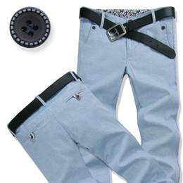 Men Sky Blue Pants Canada - New arrival 2016 autumn winter Men Pants sky blue Style Fashion Classic Men Trousers Male Long Trousers Slim Fit Men Cargo Pants