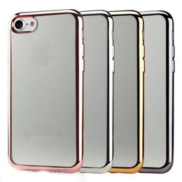 Crystal Clear Phone Cases Canada - For Iphone 7 Phone Case Ultra Thin Soft Clear Crystal TPU Electroplating Back Cover for iphone 7 plus