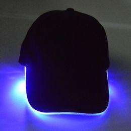 Glow Party Decorations Australia - Light Hat Glow Cotton for Night LED Hat Baseball Caps Luminous Adjustment Size Christmas Party Peaked Casquette Decoration Men Women