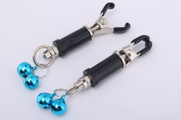 $enCountryForm.capitalKeyWord NZ - New Metal Silver Adult BDSM Sex Toy Fantasy A pair Clamps Clips With Ring with Chain Fetish For Women RYSM-049-C