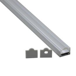Wholesale Pendant Sets NZ - 10 X 1M sets lot U type 45 degree lens led aluminum profile and Anodized alu led profile for ceiling or pendant lights