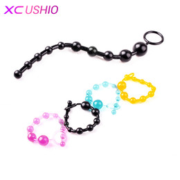 Sex Vagina Play Pas Cher-Nouvelle arrivée Black Epic Sale Orgasm Vagina Plug Play Pull Ring Ball Sexy Sex Nouveautés Jelly Anal Special Toy Beads Chain 0701