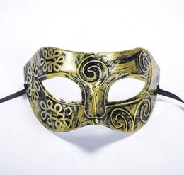 China Ancient Rome Men's Masquerade Mask Fancy Dress Venetian Masks Masquerade Masks Plastic Half Face Mask Optional Multi-color WA2004 cheap mask rome suppliers