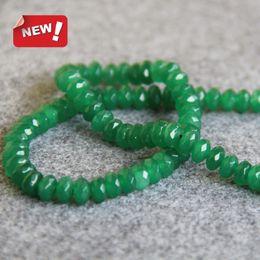 Green aventurine jewelry online shopping - Hot Sale X8mm Natural Green Aventurine Jasper beads Round Faceted stones DIY Beads jade inch Jewelry making design