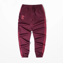 $enCountryForm.capitalKeyWord UK - Wholesale- 2017 Calabasas Season 4 Jogger Pants Men Kanye West Hip Hop Pants Streetwear Casual Mens Red Sweatpants KMK0050-5