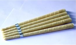 Ingrosso 142pcs / lot di pura cera d'api candela dell'orecchio greggio tessuto mussola organico, con il disco protettivo + approvazione di qualità del CE