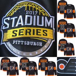 2017 Stadium Series Premier Jersey Philadelphia Flyers  53 Shayne  Gostisbehere  11 Travis Konecny  88 Eric Lindros  27 Boyd Gordon Hockey 8b4a68b02