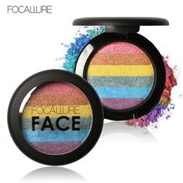 $enCountryForm.capitalKeyWord Canada - DHL FOCALLURE Rainbow Highlighter Makeup Eyeshadow Palette Baked Blush Face Shimmer Color Eye Shadow Cosmetics Beauty Tools Kits