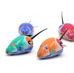 Wholesale New Cute Childern s Classic Metal Iron Mouse Clockwork Toys vintage Toys Wind up Babies Funny Chinese Toys YH999