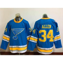 Camiseta Para Hombre Baratos-St. Louis Blues # 34 Allen Hockey Jersey 2017 Winter Classic Premier Jerseys Nueva temporada de hombres Hockey Uniformes bordado Hockey Camisetas