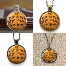 Ouija bOards online shopping - 10pcs Ouija Board pendant Ouija Board jewelry Cothic Glass Photo Necklace keyring bookmark cufflink earring bracelet
