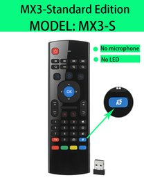 Android Tv Box Mx3 G Canada - X8 Mini Wireless Keyboard Fly Air Mouse Remote G Sensing Gyroscope Sensors MIC&VIDEO LED For MX3 MXQ M8 M8S M95 S905 STB Android TV BOX