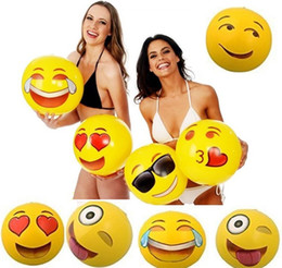 $enCountryForm.capitalKeyWord Canada - 2017 Newest Emoji PVC Inflatable Beach Balls Inflatable Ball Pool Outdoor Play Beach Toys free shipping GC23